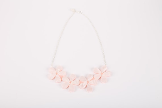 Cherry Blossom Acrylic Necklace