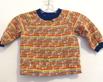 30% Off SaLE@@A Baby Boy's Vintage 70's Long Sleeve DISCO era Knit Top.18mo