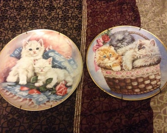 Purrfectly Precious Kitten plates, lited Edition