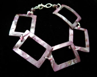 Purple Mother of Pearl Bracelet