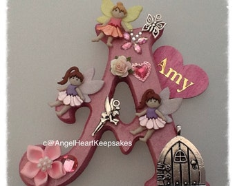 Letter Plaque, Fairy, Birthday Gift, Personalised, Christmas,