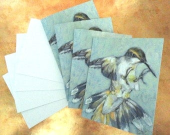 HUMMINGBIRD ~ 4 folded note cards