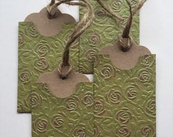 4 gift tags in handmade envelopes