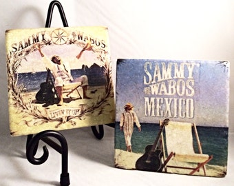 "Sammy Hagar ""Cabo Wabo"" Coaster Set ( Set includes 4 Tiles )"