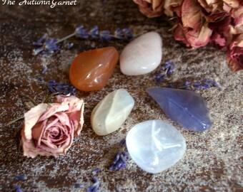 Fertility, Healing Gemstone Set, Meditation, Loose Gemstones, Chakra, Tumbled Stones, Crystal Healing set, Moonstone, Pregnancy, Miscarriage