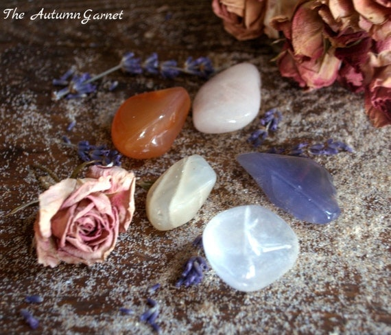Fertility, Healing Gemstone Set, Meditation, Loose Gemstones, Chakra, Tumbled Stones, Crystal Healing set, Moonstone, Pregnancy, Miscarriage