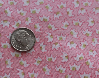 1 yard Tiny print Circus Elephant Toss in Pink by Holly Holderman Lakehouse dry goods