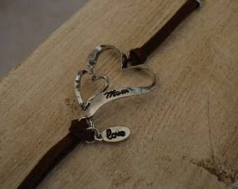 A Mother's Love brown suede bracelet
