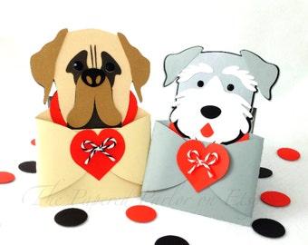 Dog Gift Card Holder/Dog Invitations/Mastiff Party/Schnauzer Party/Puppy Party/Schnauzer Invitations/Mastiff Invitations/Dog Lover/Dog Gift