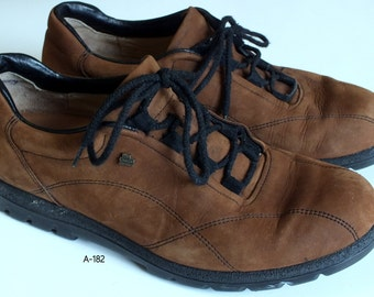 Finn Comfort brown fine suede oxford lace up shoes women size US 6.5 C