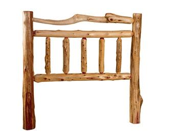 Rustic Red Cedar Log Bed- TWIN Size - Mission Style -*HEADBOARD ONLY* Amish Made