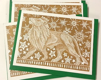 Proud Lion Holiday Cards Set of 5