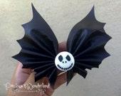 Jack Skellington Themed Bat Hair Bow