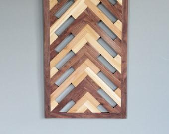 Herringbone Geometric Pattern Wall Decor