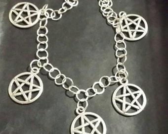 Witchy Pentagram Charm Bracelet