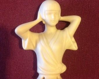 Porcelain half doll unpainted