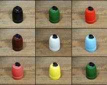 Vintage Ceramic Porcelain Lamp Bulb Holder E27 Socket for Pendant Lighting - Multi Colours