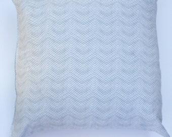 "Grey Thin Chevron 20"" x 20"" Pillow Cover"