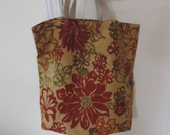 Red and olive green Market bag