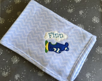 Personalised baby blanket - Blue