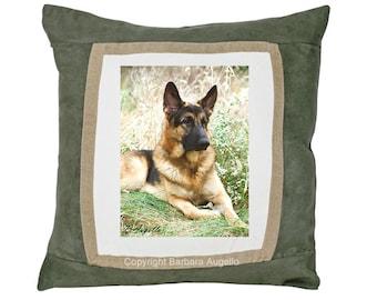 German Shepherd Pillow, German Shepherd Gift, German Shepherd Throw Pillow, German Shepherd Art, German Shepherd