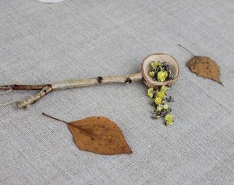 1 teaspoon, wooden measuring spoons, measuring scoop, birch wood spoon, Measuring spoon, wooden spoon, carved from branch oak wood