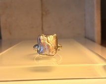 Unique Handcrafted Biwa Pearl and Sterling Silver Ring. Great introductory price on this item.