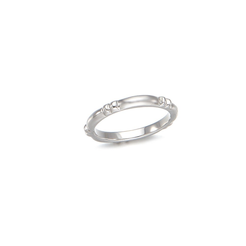 simple silver ring stacking ringtextured ring minimalist