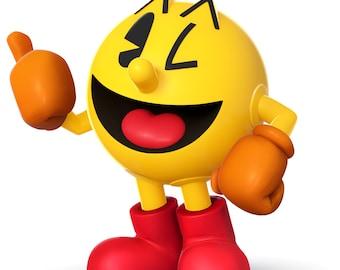 PAC MAN - Video Game - Instant Download - Digital Printable Design - Pac Man Printable