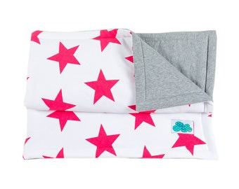 Crib Quilt. Star Red