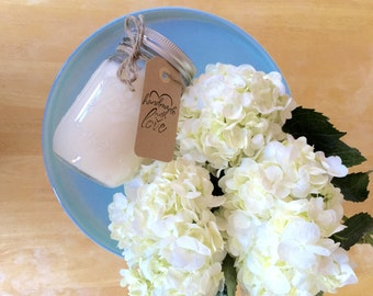 Hydrangeas - All Natural Soy Floral scented candle - Burns clean for 80-100 hours  Gifts for under 20