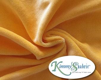 Sunset Yellow Cotton Velour
