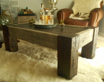 Reclaimed Wood Coffee Table- The Old Industry Seattle- Includes FREE Shipping!