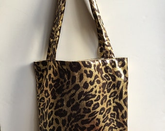 Leopard Theme Handmade Shoulder Bag
