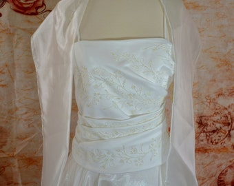 Vintage Style Informal Wedding Gown Dress, Ivory Size 8