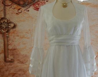Vintage 1960 Lorrie Deb Hippie Wedding Dress
