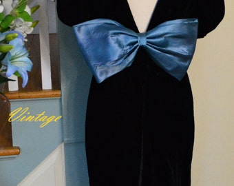 1990's Patty O'neil Velvet Dress