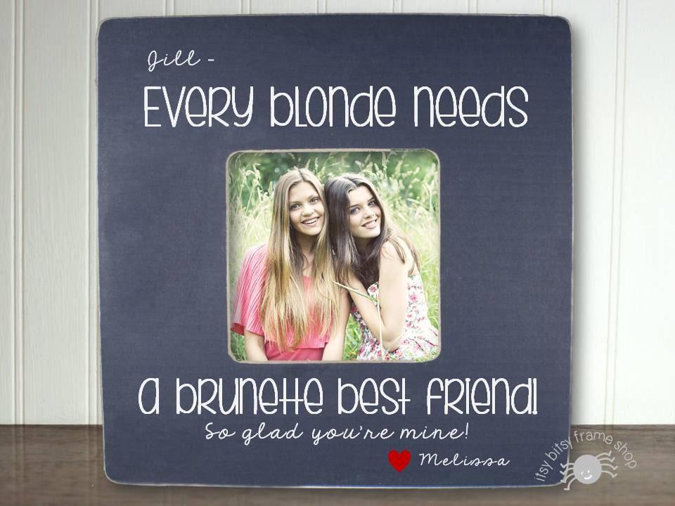 Best Friend Gift Blonde And Brunette Best Friend BFF Gift Best