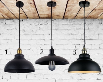Loft Pendant lighting dome shade Industrial chandelier Vintage Industrial lighting Steel chandelier for Bar Man cave light Retro Light