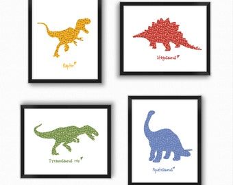Dinosaur Wall Art dinosaur wall art | etsy