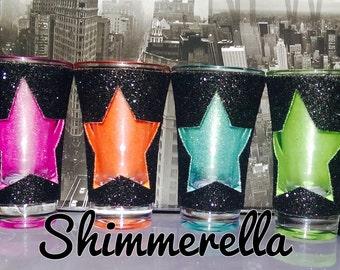 Shot glitter glasses