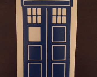 Tardis Car Decal