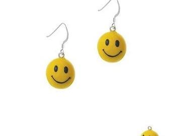 3-D Happy Face Yellow Smiley Face earrings , Smiley faces, Smiley face necklace, smiley face necklace, emoji jewelry, emoji necklace, emojis