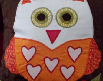 Appliqued Owl Pillow