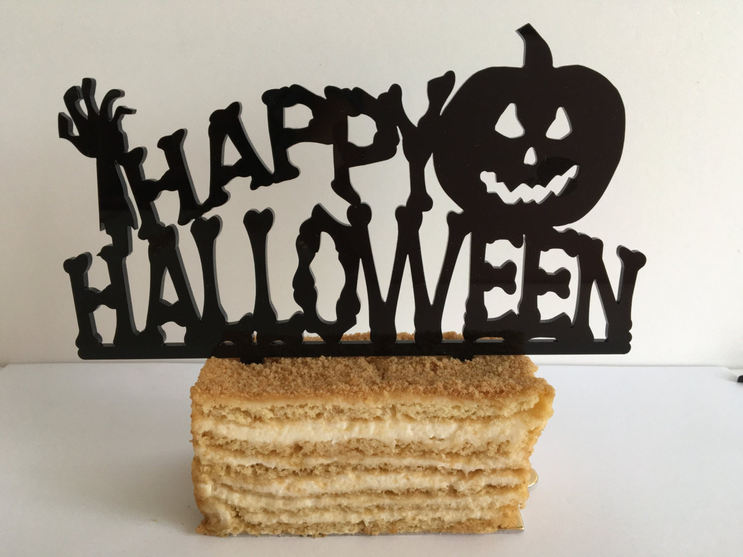 Halloween cake topper Halloween decoration Happy Halloween ...