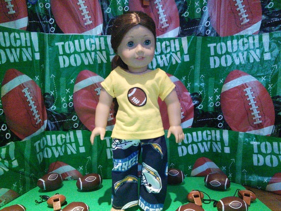 San Diego Chargers American Girl Doll Clothes Handmade