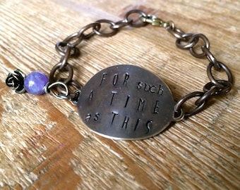 The {For such a Time as This} Chain Bracelet