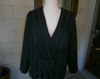 Women's Tuxedo Style Striped Jacket