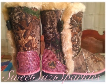 IN STOCK!  Country Princess boots! Cammo with Pink Bling. NWT size 8