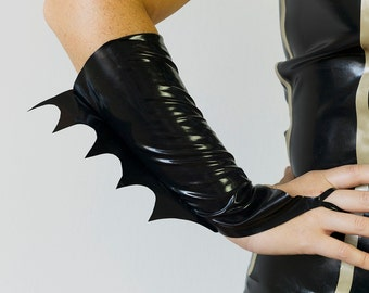 Batgirl Latex Gloves